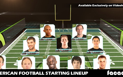 American Football Starting Lineup