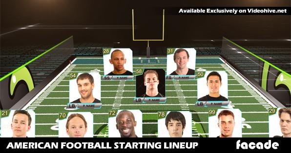 American Football Starting Lineup